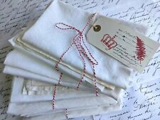 5 Pieces of Antique French Linen / Cotton Fabric Metis, Creative Bundle,