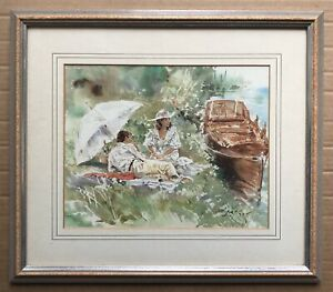 Art Print Open Edition Picture Print Of A Picnic By The Riverside By Gordon King