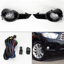 Toyota Highlander 08-10 Front Bumper Fog Lights Kit & Wiring Switch Pair RH LH
