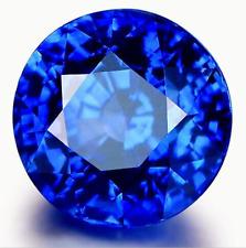 Beautiful 9MM Round CUT UNHEATED 4.58Ct Tanzania Blue SAPPHIRE AAA+ GEMSTONE