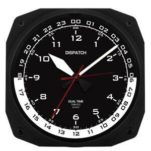 "10"" Dispatch Pilot's Flight Plan Office Dual Time Clock, Aviation TRI-0105"
