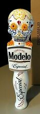 "10"" New Modelo Especial Tall Day Of The Dead Sugar Skull Beer Tap Handle Bar Lot"