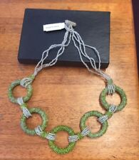 HSN Andrew Stone Himalayan Gems Nepalese beaded necklace , green / white MIB