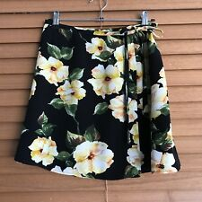 TOPSHOP black floral wrap mini skirt size EUR 36 / size 8
