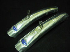 Vintage Bluemels Short mudguards Bicycle fenders  pair NOS Made in England ALLOY