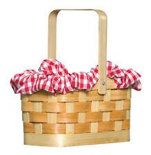 Red Riding Hood Gingham Basket Fairytale Storybook Women Costume Purse Bag