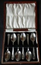 EPNS Boxed Set of 6 Egg Tea Coffee Grapefruit SPOONS