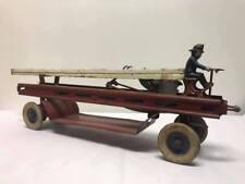 Antique Kingsbury Wind Up Fire Truck