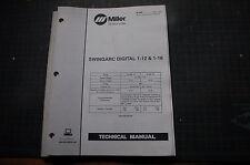 Miller Welder SWINGARC DIGITAL 1-12 Owner Service Repair Parts Manual book owner