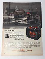 Original Print Ad 1953 EXIDE Ultra Start Vintage Artwork E Street