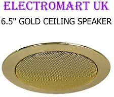 "FULL RANGE CEILING SPEAKER LOUDSPEAKER 6.5"" 100W GOLD"