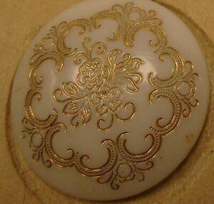 """7/8"""" Victorian  White Glass Button 38:10"""