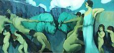 ALLEGORY OF THE COSTA BRAVA. OIL ON CANVAS. JOAQUIN TERRUELLA. SPAIN. 1923