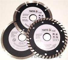 YATO Professional Diamond DISC Blade set 3 pcs 125 mm TURBO SEGMENTI TILE CUTTER