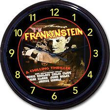 Frankenstein Boris Karloff Horror Movie Wall Clock Monster Classic Mary Shelley