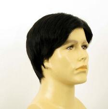 Perruque homme 100% cheveux naturel noir ref THIERRY 1b