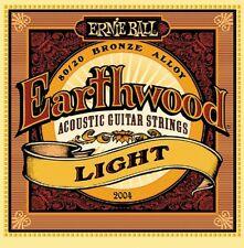 3 Pack! Ernie Ball Earthwood 2004 Light Acoustic Guitar Strings Bronze Alloy