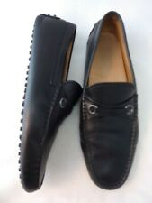 TOD'S 8 Gommino Black Mens Loafers Driving Leather Shoes