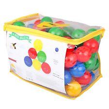 Paradiso T02805 Spielbälle 100 bunte Kunststoffbälle Bälle 6cm für Bällebad