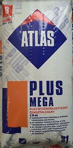 Natursteinkleber Atlas Plus Mega weiß C2ES1 25kg Marmor Granit Kleber Fliesen
