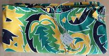 Lot de deux Coupon tissu Vert Jaune Ancien