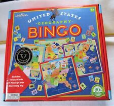 Us Geography Bingo by eeBoo. New in box. Oppenheim best toy award