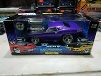 MUSCLE MACHINES 1970 PLYMOUTH CUDA AAR PLUM PURPLE 1:18 SCALE RARE UNOPENED
