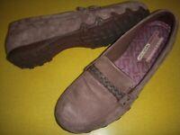 Skechers Bikers-Melbourne Suede Leather Memory Foam Slip-On Shoes 9.5 M Brown