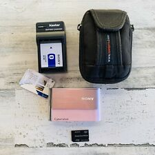 Sony Super SteadyShot DSC-T70 Pink Used Good Digital Camera Touch Screen 8.1MP