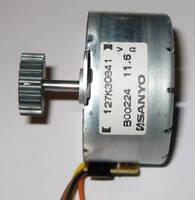 Sanyo PM Alternator w/ 17.5mm 20 Tooth Gear  -  12 V  -  7.5 deg / step - 42mm D