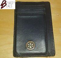 TORY BURCH dark navy blue slim ID wallet card case