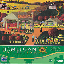 Hometown Collection by Heronim 1000-Pc Jigsaw Puzzle-Cambria Farmers Market EUC