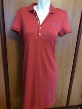 Polo Ralph Lauren Women Coral Red Short Dress Long Shirt Tunic Medium NWT Blue