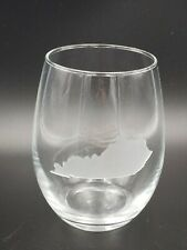 Etched Kentucky Stemless Wine glass Cup