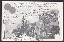1904 McCoy Patriotic Embossed 5 Cent Coin Postcard Southern Cross GRAND MANAN NB