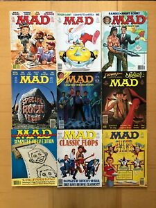 MAD MAGAZINE 10 ISSUE LOT #250, 251, 254, 259, 284, 296 & 4 SUPER SPECIAL ISSUES