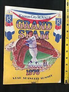 1976 Kansas City Royals Detroit Grand Slam Star Spangled Summer Baseball Program