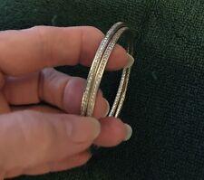 $2400-One (1) David Yurman White Diamond Bangle-SS-Medium Bangle -SALE $100+ OFF