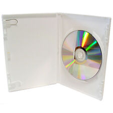 100 x Genuine River WHITE CD DVD Storage Case 14mm Spine with clear outer cover