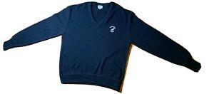 Vintage Izod LACOSTE Navy HILTON HEAD ISLAND Sweater Size X-Large SUPER RARE HTF