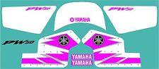 Yamaha PW50 pink factory style graphic / decal kit FREE UK SHIPPING