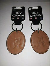 Alabama Crimson Tide Leather Key Chain Ring ( set of two)