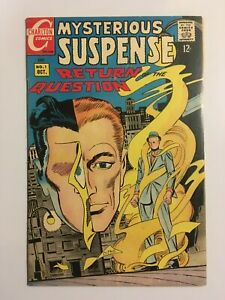Mysterious Suspense #1   Return of the Question by Steve Ditko - Charlton Comics
