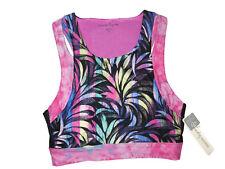 Nanette Lepore tropical print corset Crop Top size MEDIUM retail $58