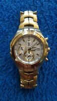 Seiko Chronograph Alarm Date Stainless Steel 7T62 OJNO Mens Watch