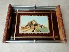 Vintage Small Tray Silver Plate Gallery Mont Saint Michel