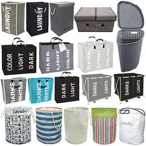 Laundry Basket Dirty Large Clothes Storage Washing Bin Hamper Home Garden