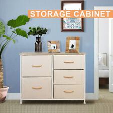 5 Drawers Fabric Dresser Furniture Storage Tower Organizer Unit Bedroom Office