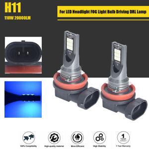 2pcs H11 LED Headlight 110W 20000LM FOG Light Bulb 8000K Blue Driving Lamp