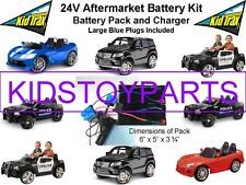 NEW! 24V Conversion Kit UPGRADE On 12V Cars/Trucks (Battery, Charger & Car Plug)